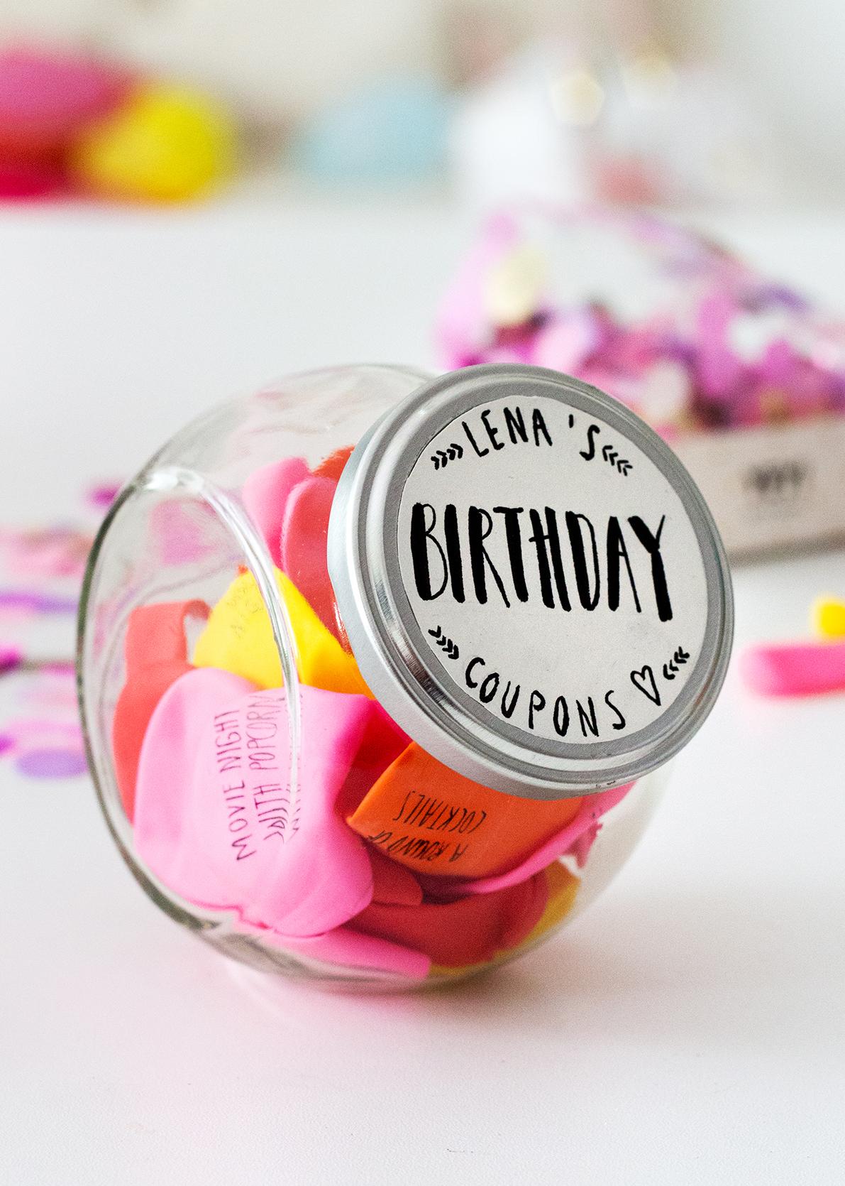 Geburtstagsgeschenke selber machen