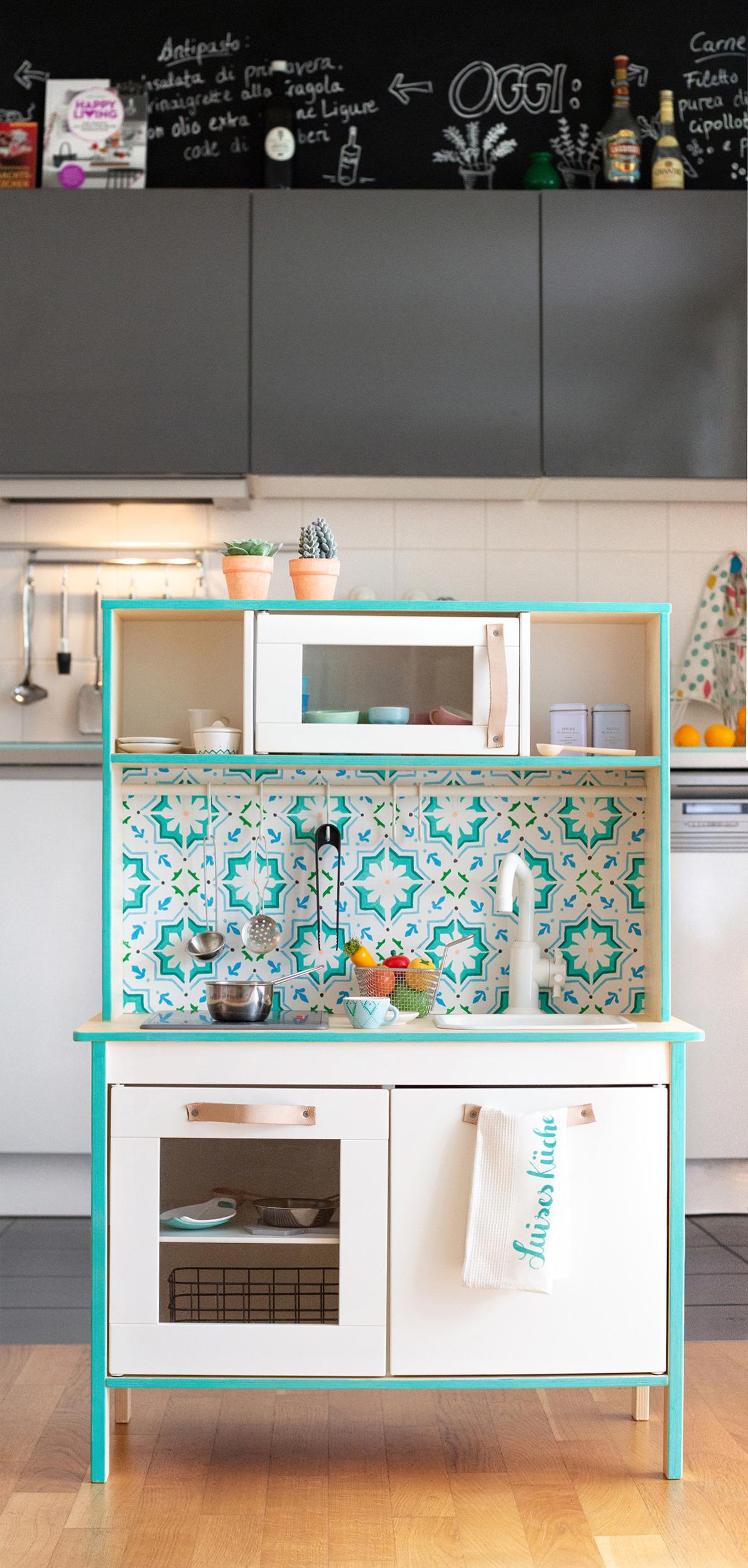 Pimp my kitchen: IKEA Duktig Kinderküche und Zubehör bemalen