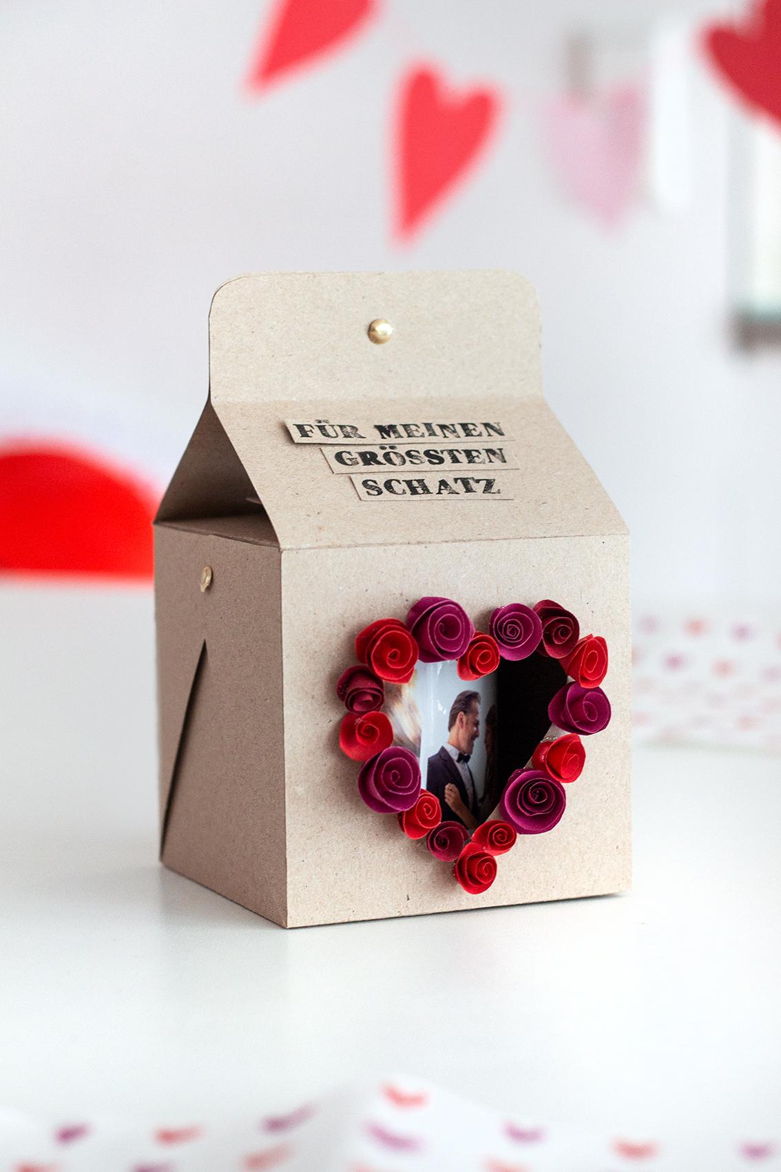 Verpackung Valentinstag