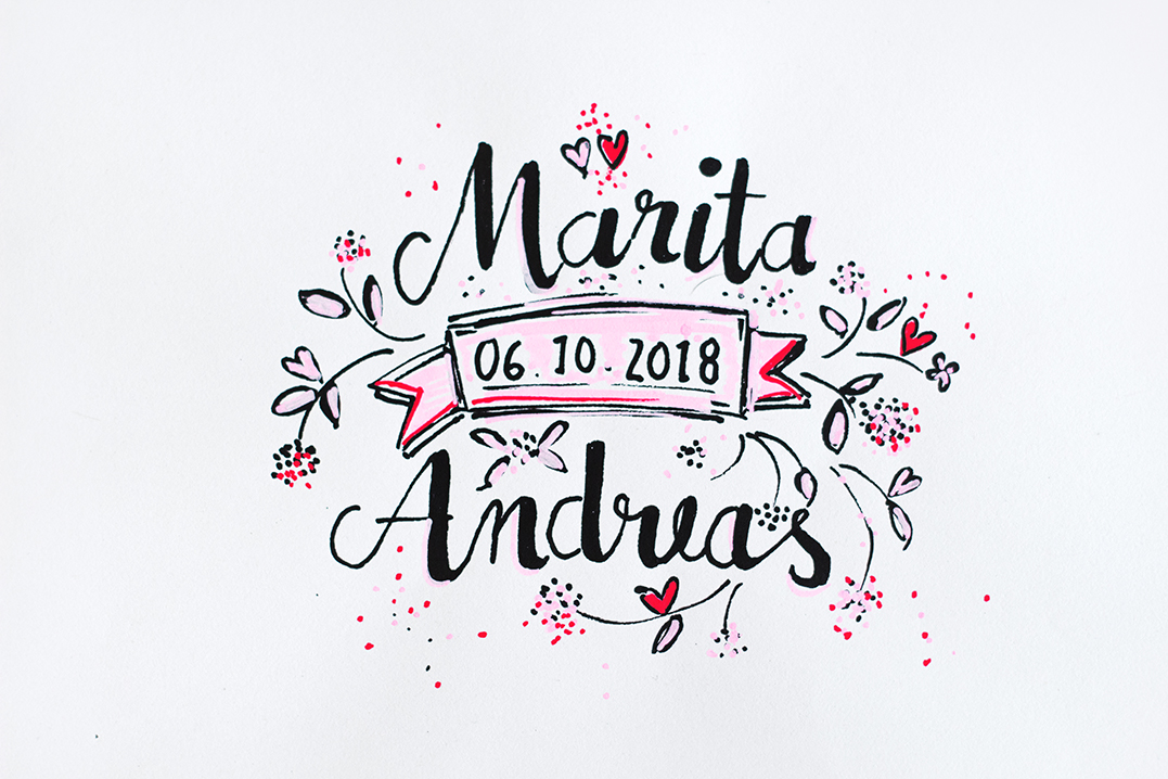 Gästebuch zur Hochzeit: Herzige Glückwünsche im Bilderrahmen