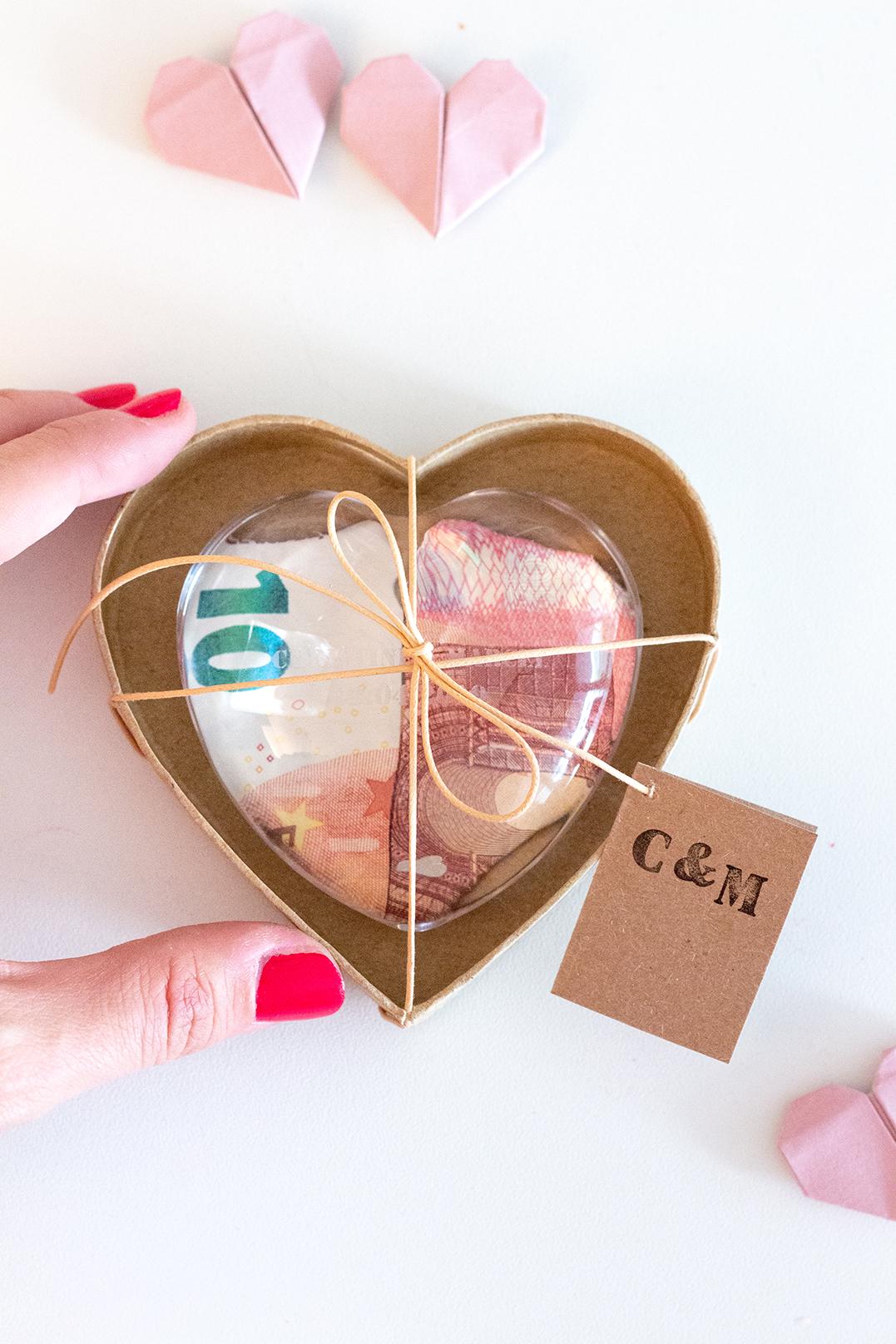 Geldgeschenk Hochzeit Herz