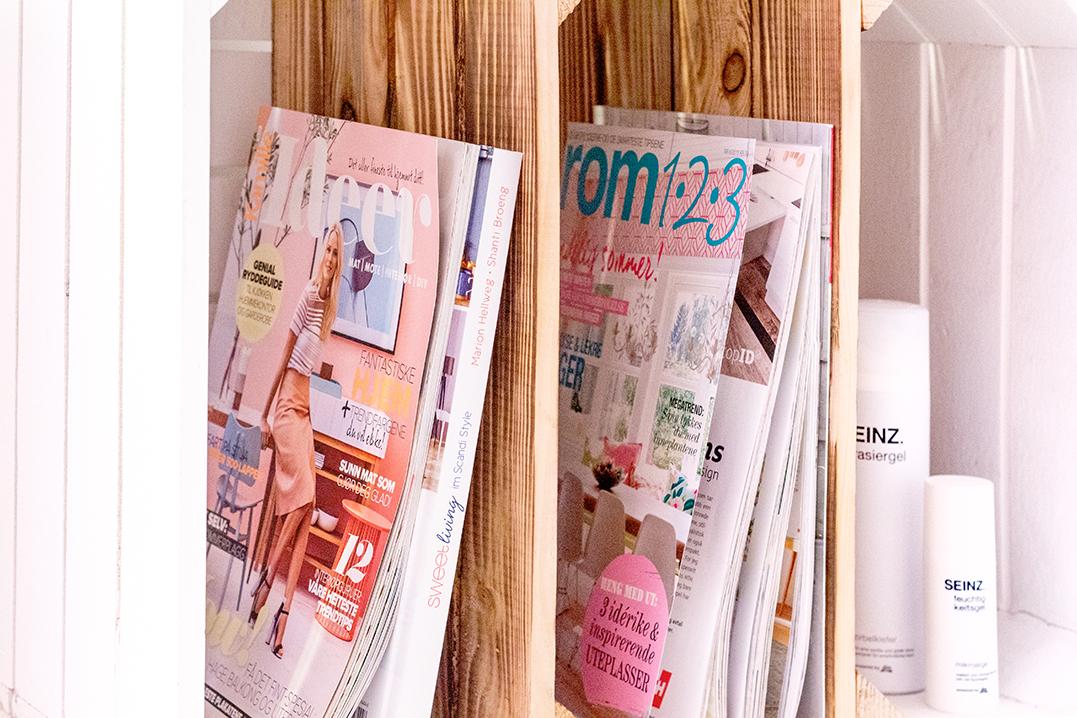 Zeitschriftenhalter Holz