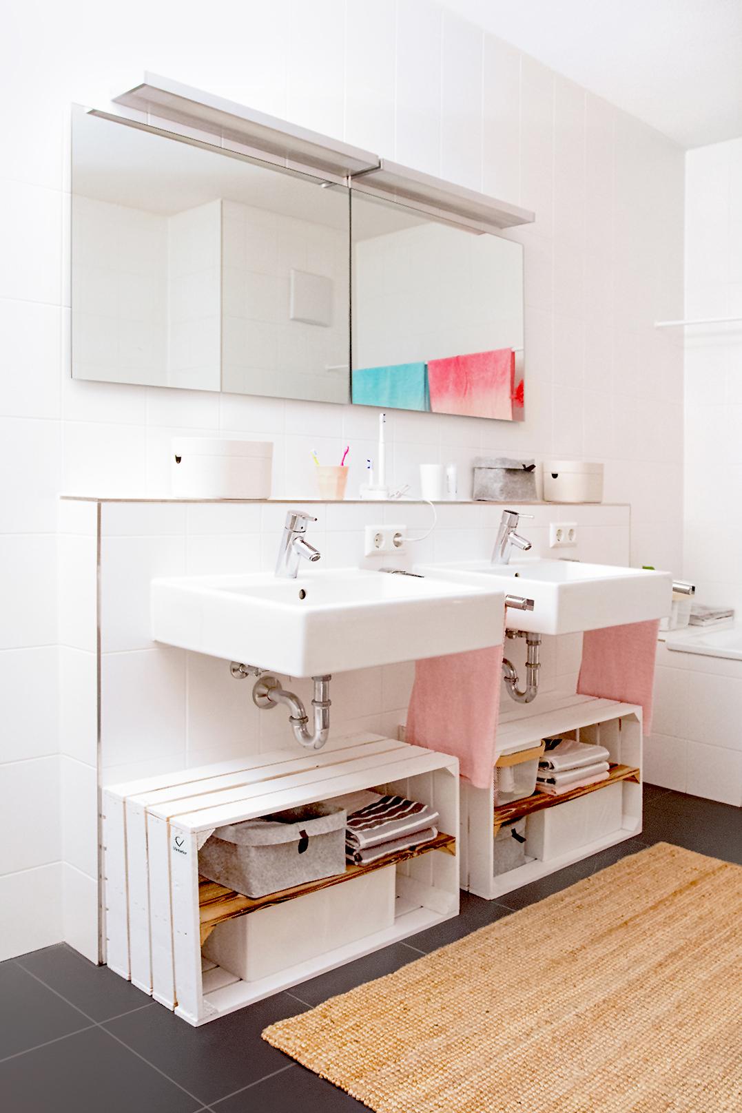 Holzkisten DIY: Vier wunderschöne Ideen fürs Bad