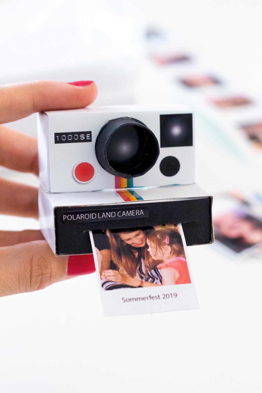 Polaroid basteln Fotogeschenk