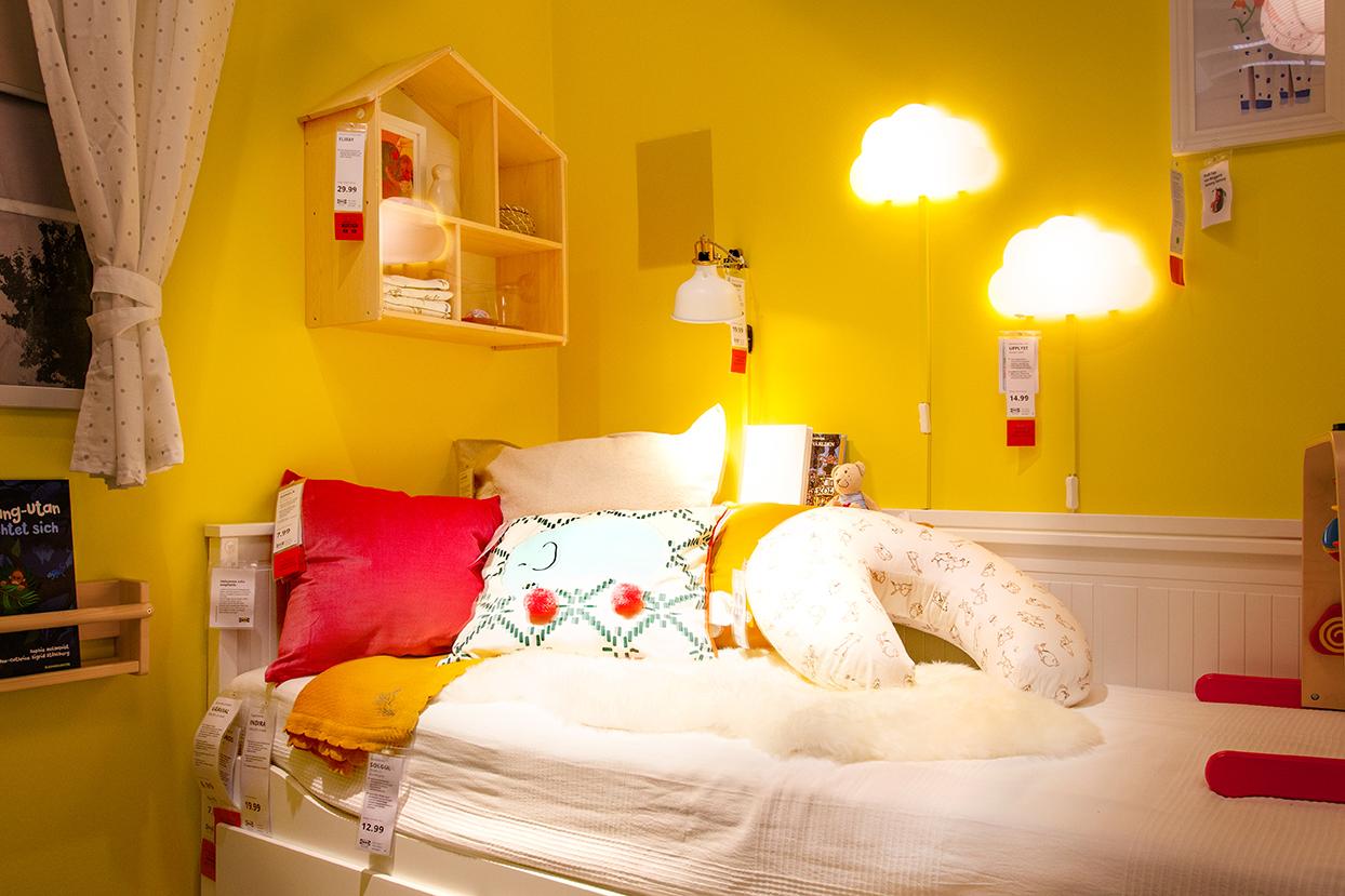 Wandgestaltung Kinderzimmer gelb