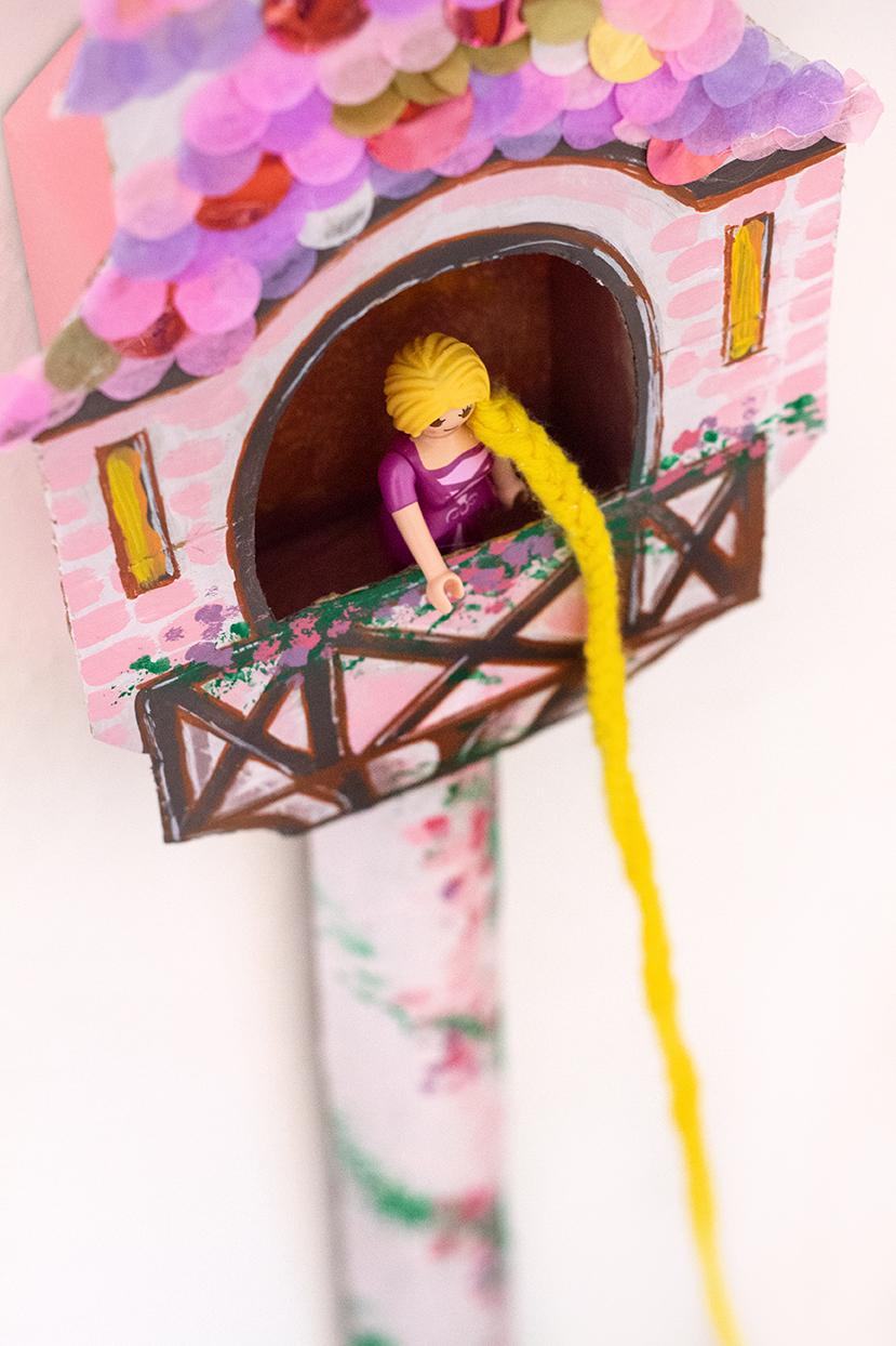 Rapunzel Turm basteln