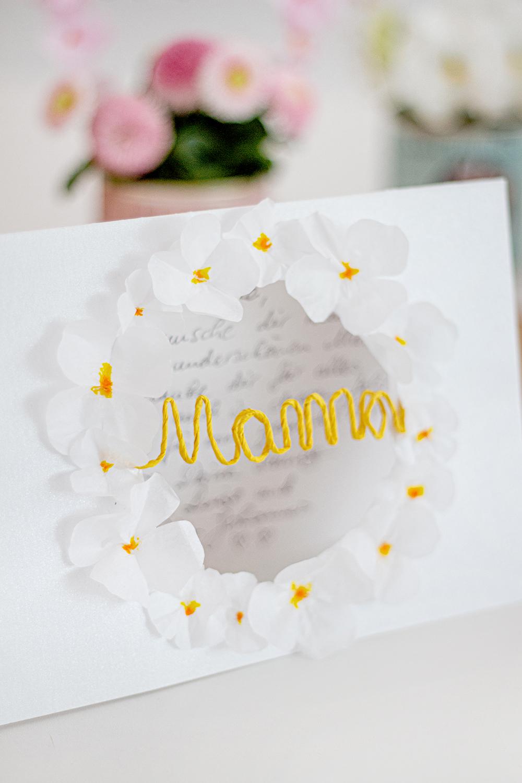 Muttertag Karte basteln