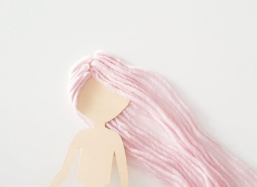 Meerjungfrau basteln Haare