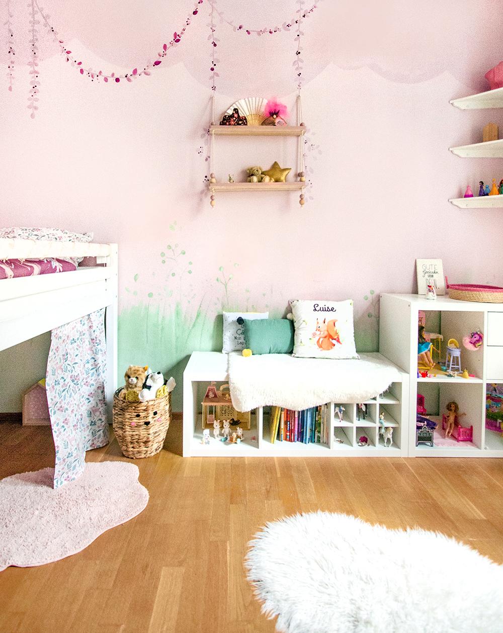 Mädchenzimmer Wandgestaltung