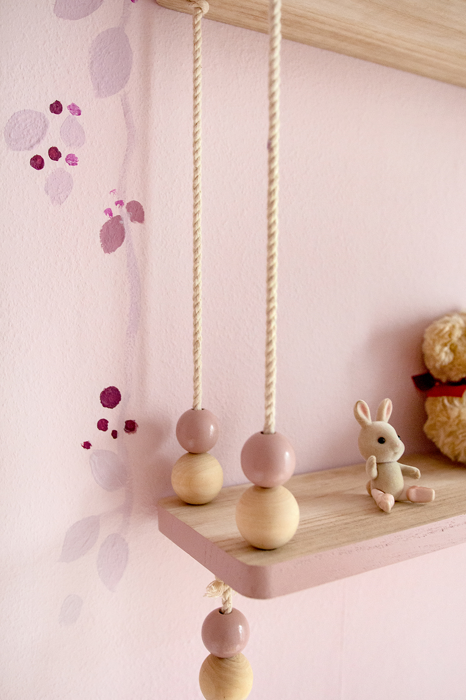 Wand Kinderzimmer rosa