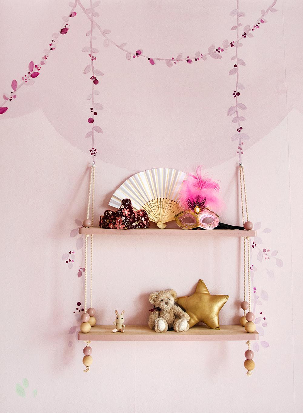 Wandgestaltung floral